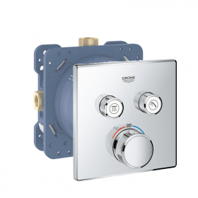 Grohe Grohtherm SmartControl Twin Outlet Thermostatic Square Shower Valve