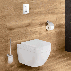 Photo of Grohe Euro Wall Hung WC & 1.13m WC Cistern Pack