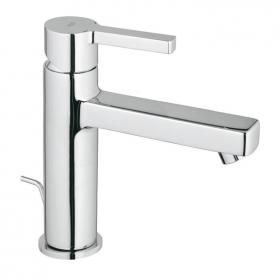 Grohe Lineare Mid Height Basin Mixer Tap With Pop-Up Waste