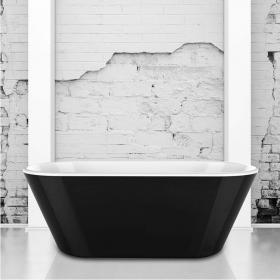Charlotte Edwards Grosvenor Black 1650 Freestanding Bath