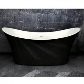 Charlotte Edwards Hazlemere 1700mm Black Freestanding Bath