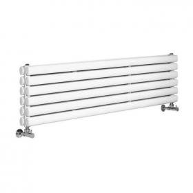 Photo of Hudson Reed Revive 1800mm High Gloss White Horizontal Double Panel Radiator