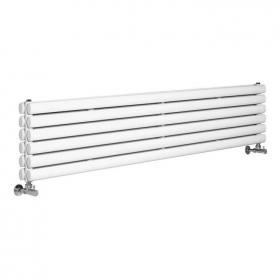 Photo of Hudson Reed Revive High Gloss White Horizontal Double Panel Radiator