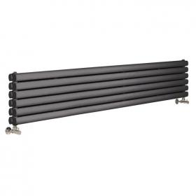 Photo of Hudson Reed Revive Anthracite Horizontal Double Panel Radiator
