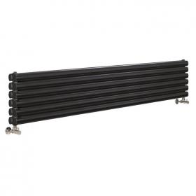 Photo of Hudson Reed Revive 1800mm High Gloss Black Horizontal Double Panel Radiator