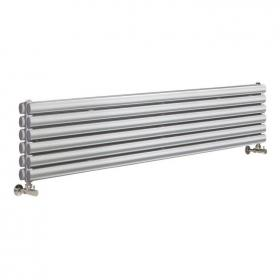 Photo of Hudson Reed Revive High Gloss Silver Horizontal Double Panel Radiator