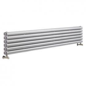 Photo of Hudson Reed Revive 1800mm High Gloss Silver Horizontal Double Panel Radiator
