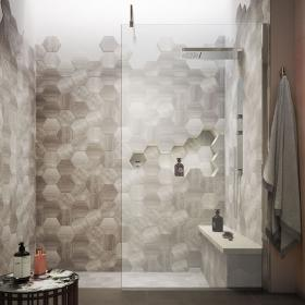 Hudson Reed 900mm Wall Fixed Wetroom Screen