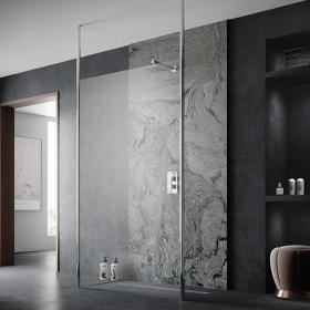 Hudson Reed 800mm Walk In Wetroom Screen with Ceiling Posts