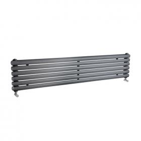 Photo of Hudson Reed Salvia Anthracite 1800mm Horizontal Double Panel Radiator