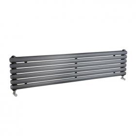 Photo of Hudson Reed Salvia Anthracite 1500mm Horizontal Double Panel Radiator