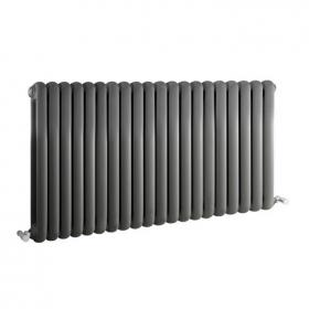 Photo of Hudson Reed Salvia Anthracite 1223mm Horizontal Double Panel Radiator