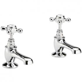 Hudson Reed Topaz Basin Taps with Hexagonal Collar