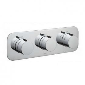 Vado Altitude Horizontal Triple Dual Outlet Thermostatic Shower Valve