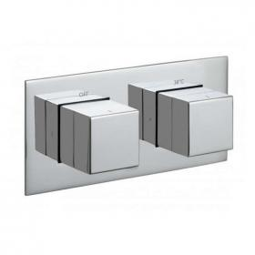 Vado Notion Horizontal Twin Outlet Thermostatic Shower Valve