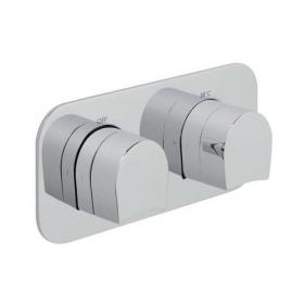 Vado Kovera Horizontal Twin Dual Outlet Thermostatic Shower Valve