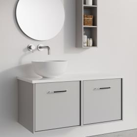 Photo of Crosswater Infinity 1000mm Storm Grey Double Drawer Unit
