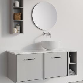 Photo of Crosswater Infinity 1200mm Storm Grey Twin Drawer & Single Base Unit