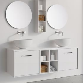 Photo of Crosswater Infinity 1400mm White Gloss Double Drawer & Twin Base Unit