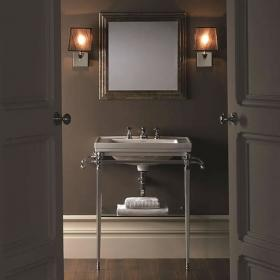 Photo of Imperial Astoria Deco Large Basin Stand with Glass Shelf