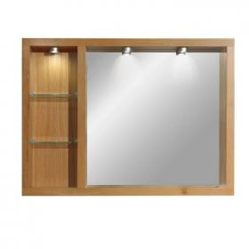 Imperial Box Mirror With Glass Shelves & Lights