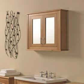 Photo of Imperial Thurlestone Wall Cabinet With 2 Mirror Glass Doors