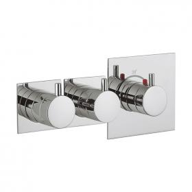 Photo of Crosswater Kai Lever Multiport Twin Outlet Thermostatic Shower Valve