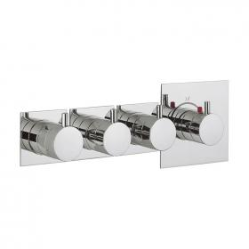 Crosswater Kai Lever Multiport Triple Outlet Thermostatic Shower Valve