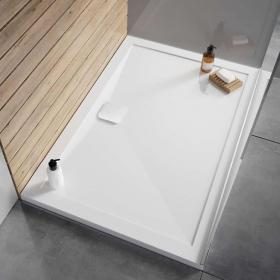 Simpsons Kai 25mm 1200mm x 800mm Rectangular Stone Resin Shower Tray