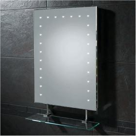 HIB Keo LED Bathroom Mirror with Charging Socket and Glass Shelf
