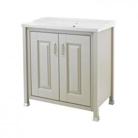 Old London Stone Grey 800mm 2 Door Vanity Unit & Basin