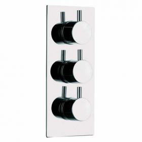 Pura Levo Flow+ Thermostatic Twin Outlet Shower Valve