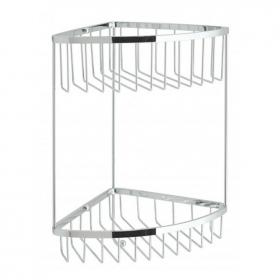 Vado Large Double Triangular Corner Basket With Hook