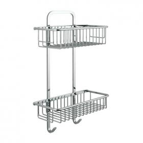 Vado Large Rectangular Double Basket With Hooks