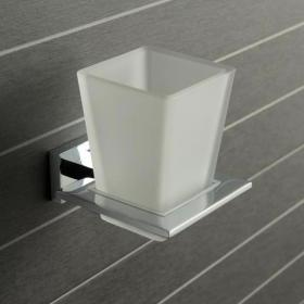 Photo of Vado Level Frosted Glass Tumbler & Holder