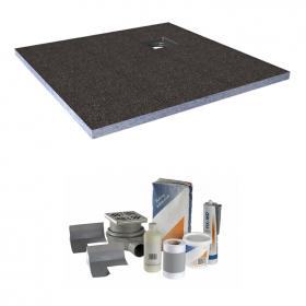 Abacus Elements 900mm Level Access 30mm Shower Tray Kit with Corner Drain
