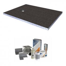 Abacus Elements 1600 x 900mm Level Access 30mm Shower Tray Kit with End Drain