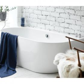 Waters I-Line Loche 1660mm Back-To-Wall Bath