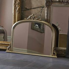 Photo of Heritage Archway Mirror Champagne Silver