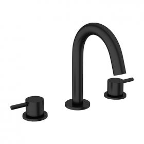 Photo of Crosswater MPRO Matt Black Deck Mounted Basin 3 Hole Set