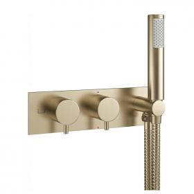 Photo of Crosswater MPRO Brushed Brass Thermostatic Bath Shower Valve with Kit