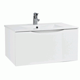Phoenix Malmo Gloss White 750mm Wall Mounted Unit & Basin