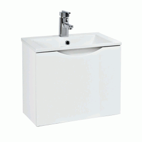 Phoenix Malmo Gloss White 400mm Wall Mounted Unit & Basin