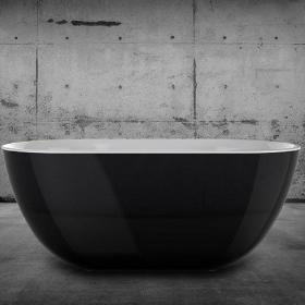Photo of Charlotte Edwards Mayfair Black 1500mm Freestanding Bath