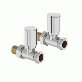 Mere Hugo2 Chrome Straight Radiator Valves (Pair)