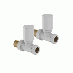 Mere Hugo2 Mont Blanc Straight Radiator Valves (Pair)
