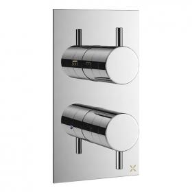 Crosswater MPROChrome Triple Outlet Thermostatic Bath Shower Valve