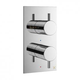Crosswater MPRO Chrome Twin Outlet Thermostatic Bath Shower Valve