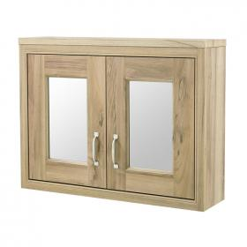 Old London Natural Walnut 800mm Mirror Cabinet