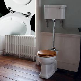 Burlington Rimless Medium Level WC with Lever Cistern